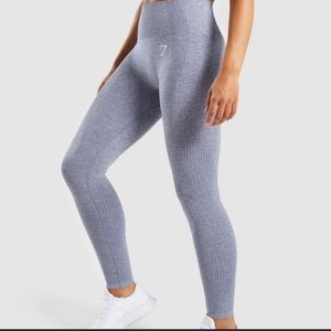 Gymshark Vital Seamless Leggings Steel Blue Marl